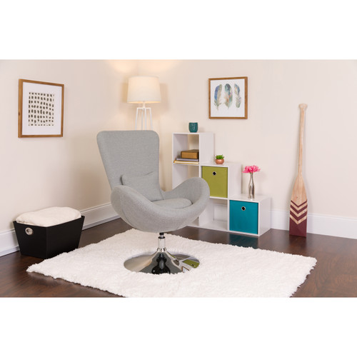Flash Furniture | Egg Series Light Gray Fabric Side Reception Chair