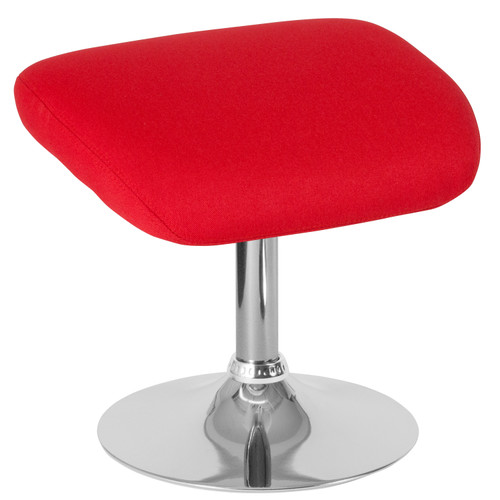 Flash Furniture | Egg Series Red Fabric Ottoman