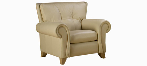 Jaymar Erica Chair is available in high quality leather, fabric, or microfiber.