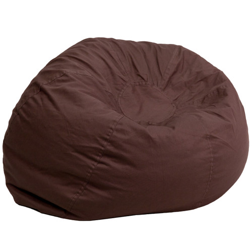 Flash Furniture | Oversized Solid Brown Bean Bag Chair