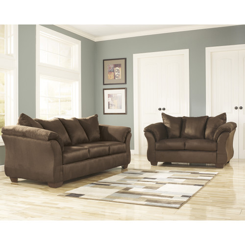 Flash Furniture | Signature Design by Ashley Darcy Living Room Set in Cafe Microfiber