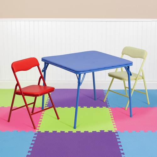 Flash Furniture | Kids Colorful 3 Piece Folding Table and Chair Set