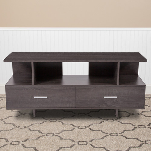 Flash Furniture | Fields Driftwood Wood Grain Finish TV Stand and Media Console