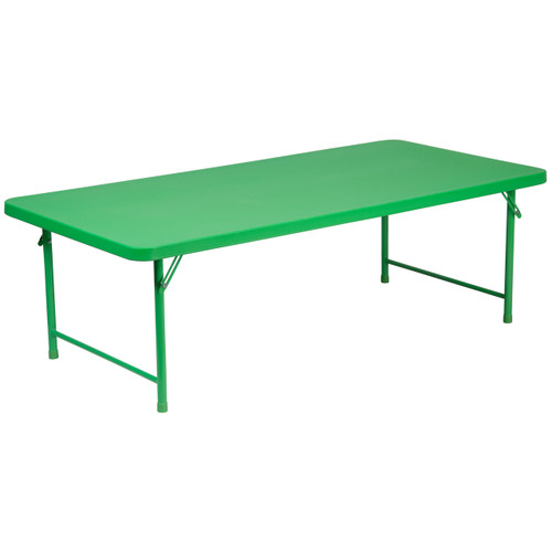 Flash Furniture | 30''W x 60''L x 19''H Kid's Green Plastic Folding Table