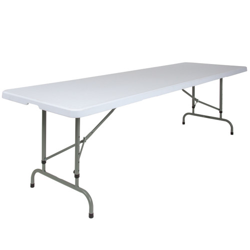 Flash Furniture | 30''W x 96''L Height Adjustable Granite White Plastic Folding Table