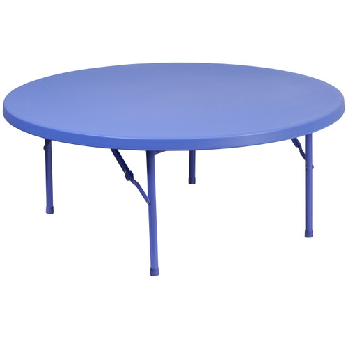 Flash Furniture | 48'' Round Kid's Blue Plastic Folding Table