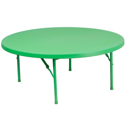 Flash Furniture | 48'' Round Kid's Green Plastic Folding Table