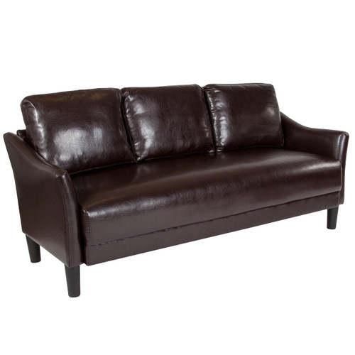 Flash Furniture | Asti Upholstered Sofa in Brown Leather