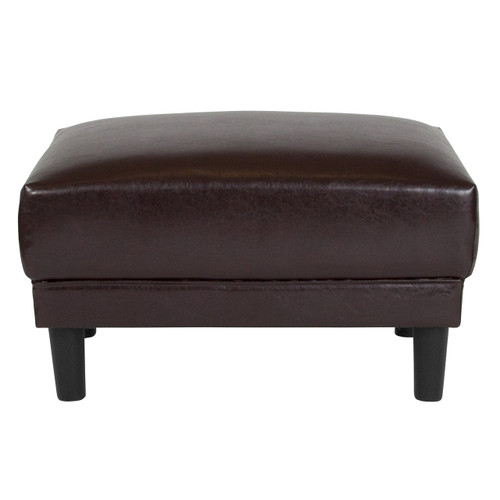 Flash Furniture | Asti Upholstered Ottoman in Brown Leather