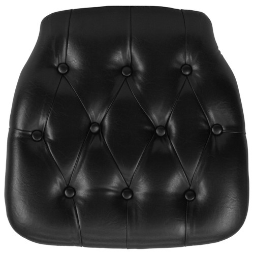 Flash Furniture | Hard Black Tufted Vinyl Chiavari Chair Cushion
