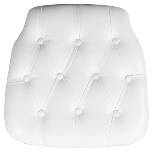 Flash Furniture | Hard White Tufted Vinyl Chiavari Chair Cushion