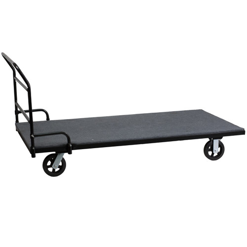 Flash Furniture | Folding Table Dolly with Carpeted Platform for Rectangular Tables