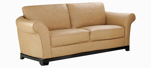 Jaymar Naples Apartment Sofa is available in high quality leather, fabric, or microfiber.