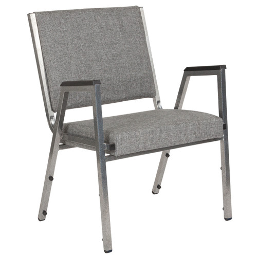 Flash Furniture | HERCULES Series 1500 lb. Rated Gray Antimicrobial Fabric Bariatric Arm Chair with Silver Vein Frame