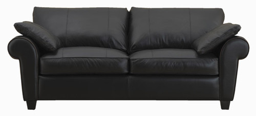 Jaymar Orleans Apartment Sofa is available in high quality leather, fabric, or microfiber.