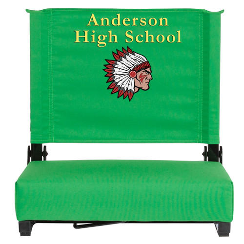 Flash Furniture | Embroidered Grandstand Comfort Seats by Flash with Ultra-Padded Seat in Bright Green