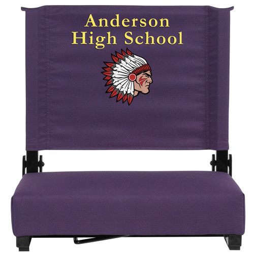 Flash Furniture | Embroidered Grandstand Comfort Seats by Flash with Ultra-Padded Seat in Dark Purple