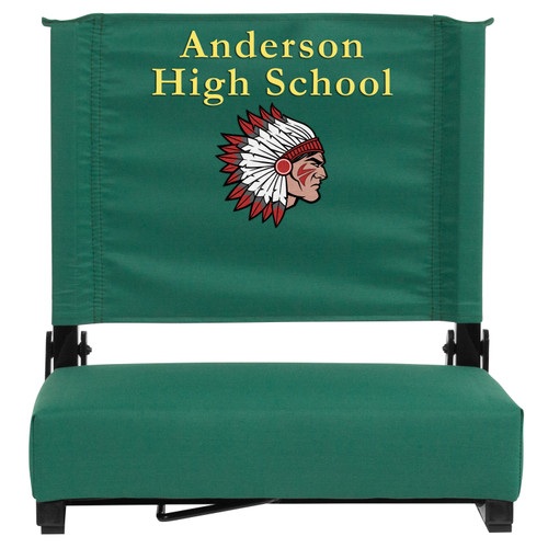 Flash Furniture | Embroidered Grandstand Comfort Seats by Flash with Ultra-Padded Seat in Hunter Green
