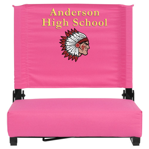 Flash Furniture | Embroidered Grandstand Comfort Seats by Flash with Ultra-Padded Seat in Pink