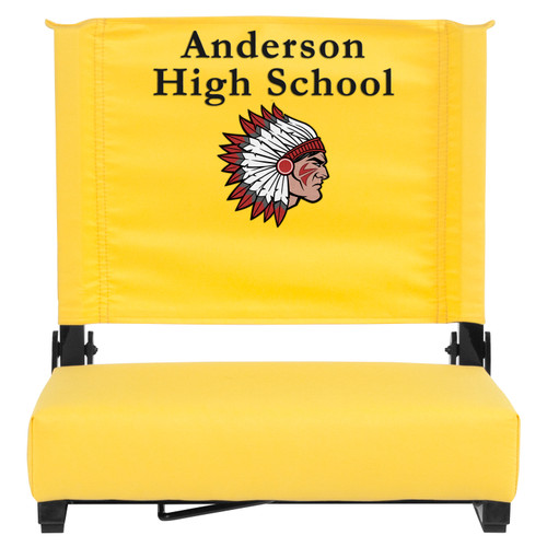 Flash Furniture | Embroidered Grandstand Comfort Seats by Flash with Ultra-Padded Seat in Yellow