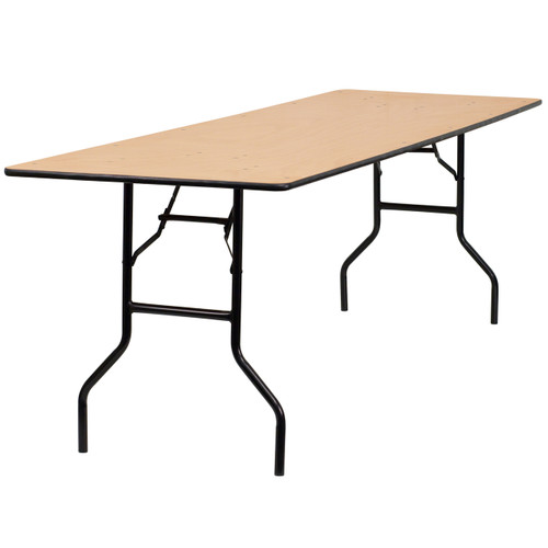 Flash Furniture | 30'' x 96'' Rectangular Wood Folding Banquet Table with Clear Coated Finished Top