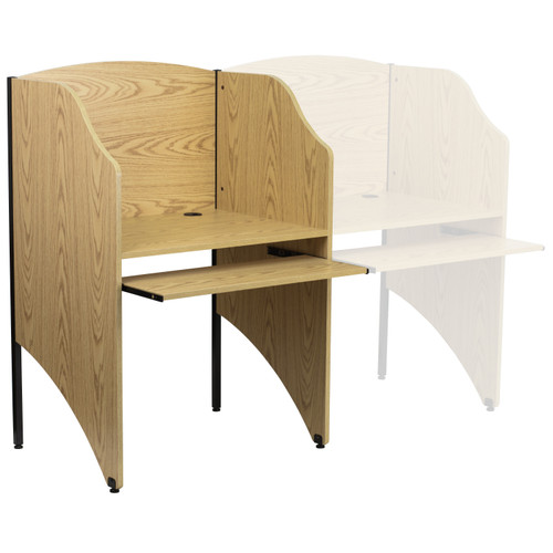 Flash Furniture | Starter Study Carrel in Oak Finish