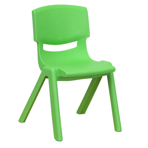 Flash Furniture | Green Plastic Stackable School Chair with 12'' Seat Height