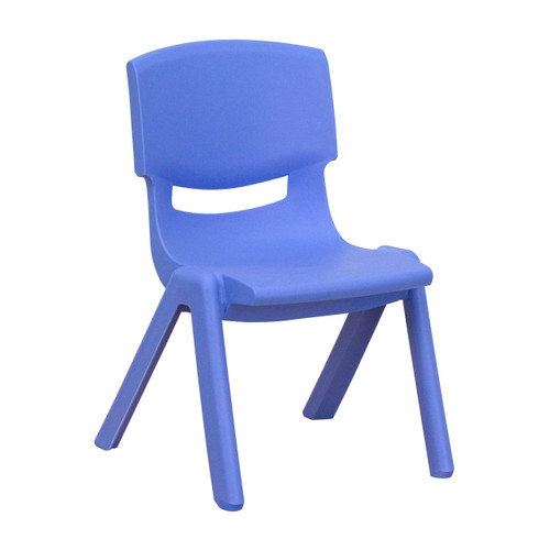 Flash Furniture | Blue Plastic Stackable School Chair with 10.5'' Seat Height