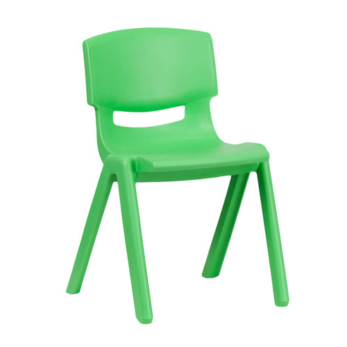 Flash Furniture | Green Plastic Stackable School Chair with 13.25'' Seat Height