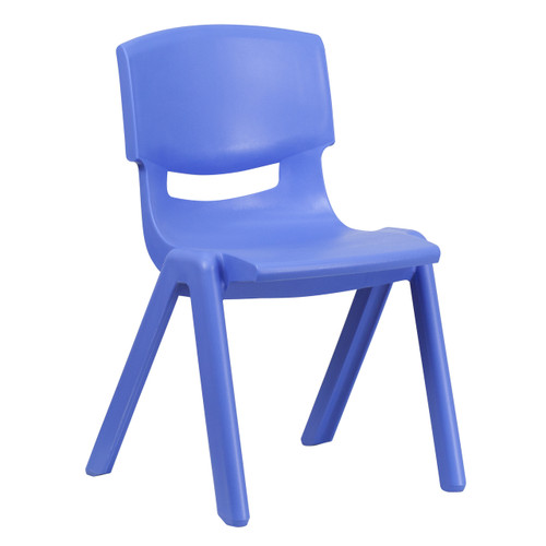 Flash Furniture | Blue Plastic Stackable School Chair with 15.5'' Seat Height