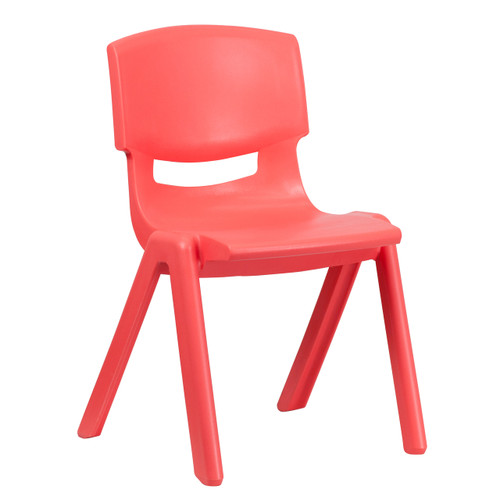 Flash Furniture | Red Plastic Stackable School Chair with 15.5'' Seat Height
