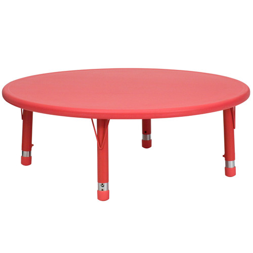 Flash Furniture | 45'' Round Red Plastic Height Adjustable Activity Table