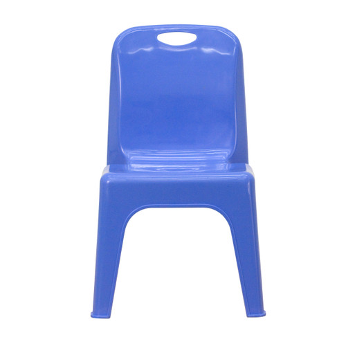 Flash Furniture | Blue Plastic Stackable School Chair with Carrying Handle and 11'' Seat Height