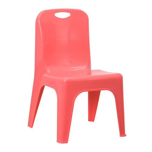 Flash Furniture | Red Plastic Stackable School Chair with Carrying Handle and 11'' Seat Height