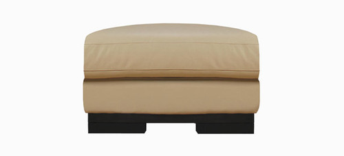 Jaymar Porto Ottoman is available in high quality leather, fabric, or microfiber.
