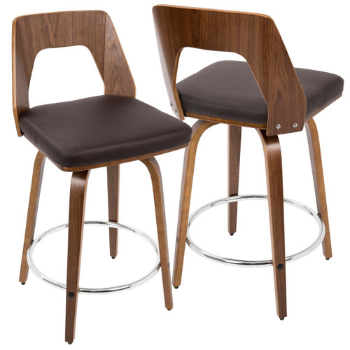 "LumiSource | Trilogy 24"" Counter Stool - Set of 2"