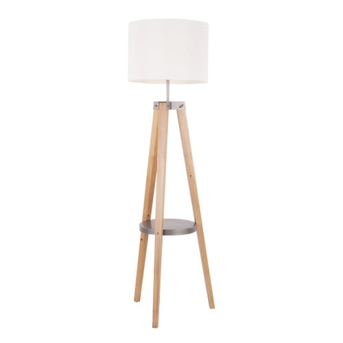 LumiSource | Compass Shelf Floor Lamp