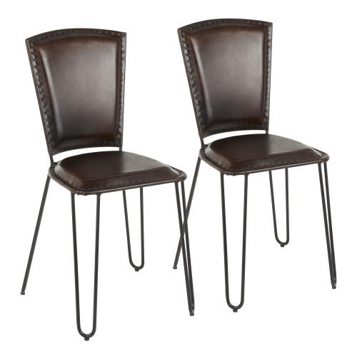 LumiSource | Ali Dining Chairs - Espresso Leather