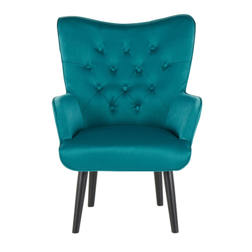 LumiSource | Isabel Accent Chair - Green Satin