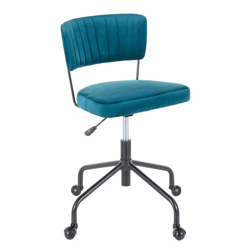 LumiSource | Tania Task Chair - Teal Velvet