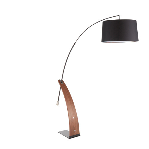 LumiSource | Robyn Floor Lamp - Black Metal