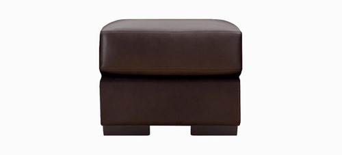 Jaymar Studio Ottoman is available in high quality leather, fabric, or microfiber.