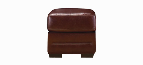 Jaymar Theo Ottoman is available in high quality leather, fabric, or microfiber.