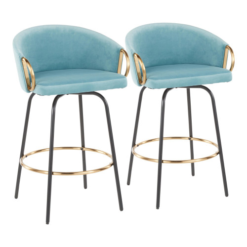 LumiSource   Claire Counter Stools (Set of 2)