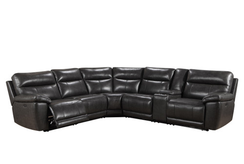 Leather Italia USA | Martin Power Reclining and Headrest Sectional
