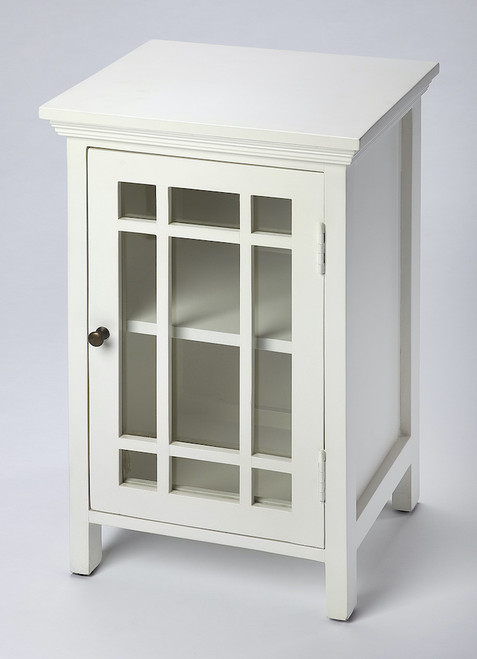 Butler Specialty Company | Baxter Glossy White Chairside Chest