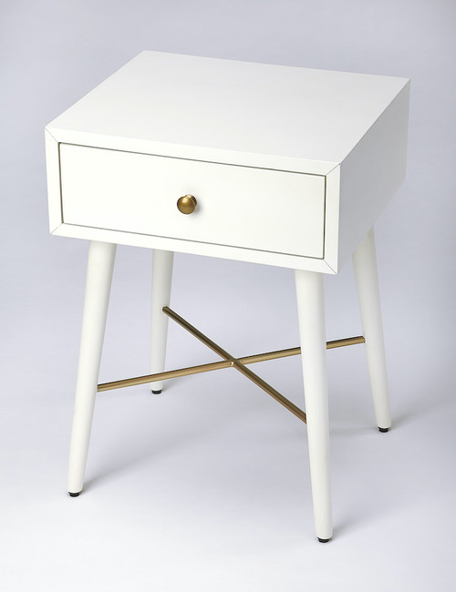 Butler Specialty Company | Delridge White & Gold End Table