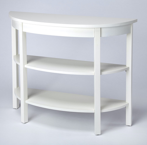 Butler Specialty Company | Lara Cottage White Demilune Console Table