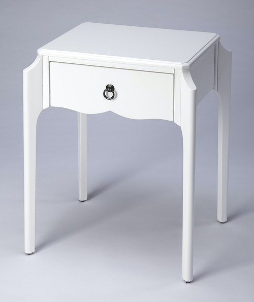 Butler Specialty Company | Wilshire Glossy White  Nightstand