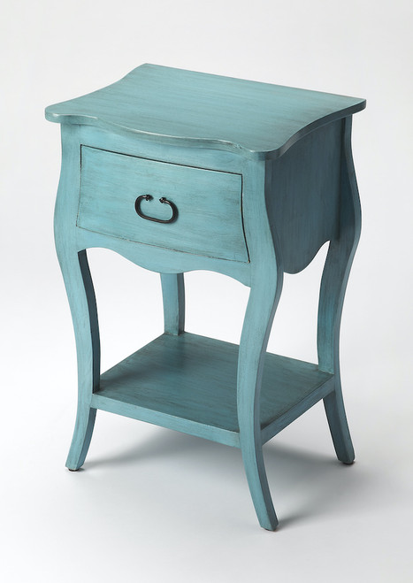 Butler Specialty Company | Rochelle Distressed Blue Nightstand